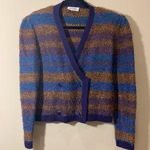 ST JOHN Vintage Cardigan wool sweater